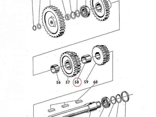 Hülse , Rohr Getriebewelle Getriebe für Zetor UR1 NEU