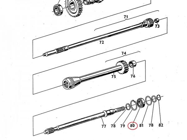 Lager 6208 Getriebewelle Getriebe Zetor UR1 NEU