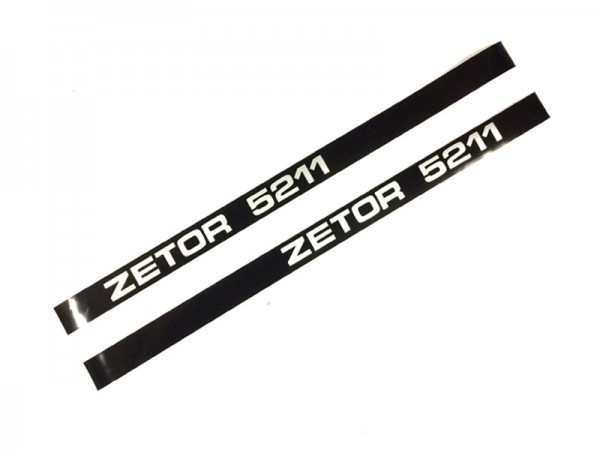 Schlepperbezeichnung , Aufschrift, Aufkleber Motorhaube Zetor 5211