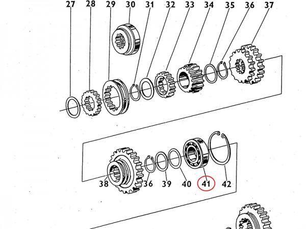 Lager 6311 APO Getriebewelle Übersetzungsgetriebe Zetor UR1 NEU