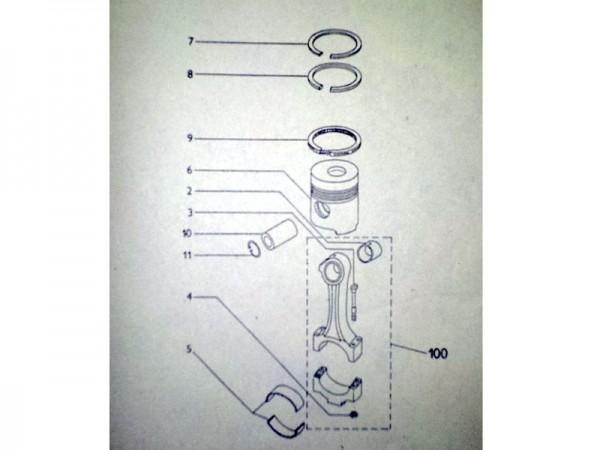 Kolben und Zylinder im Satz 130mm für Liaz LKW