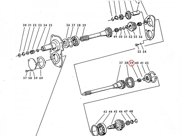 Nadellager 20 x 26 x 20 Getriebewelle Übersetzungsgetriebe Zetor UR1 NEU