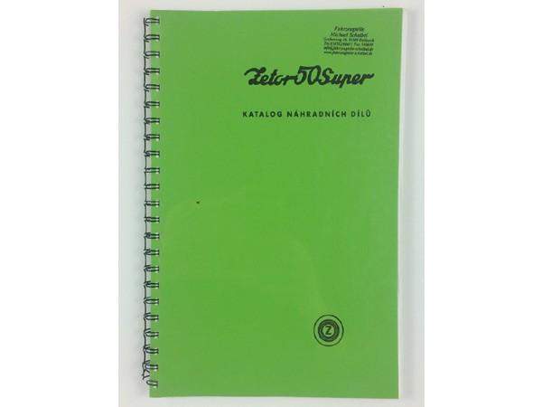 Katalog, Ersatzteilkatalog Zetor 50 Super NEU