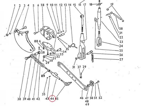Spannmutter Dreipunktaufhängung Zetor UR1