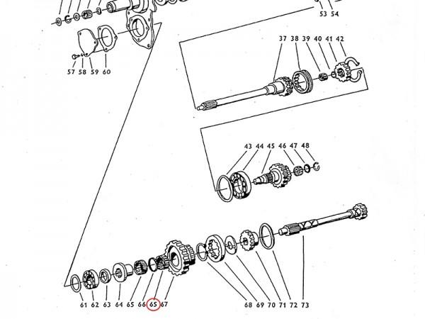 Nadellager 60 x 65 x 20 Getriebewelle Übersetzungsgetriebe Zetor UR1 NEU