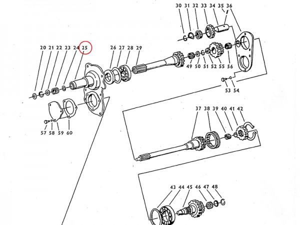 Vorderdeckel Getriebe Zetor UR1 NEU