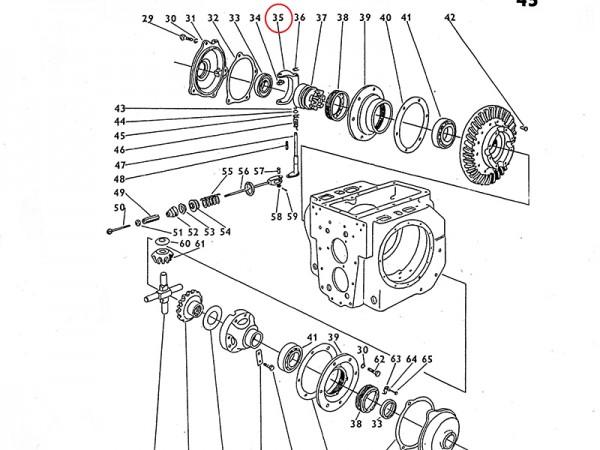 Gabel für Ausgleichsgetriebe Getriebe Zetor UR1 NEU