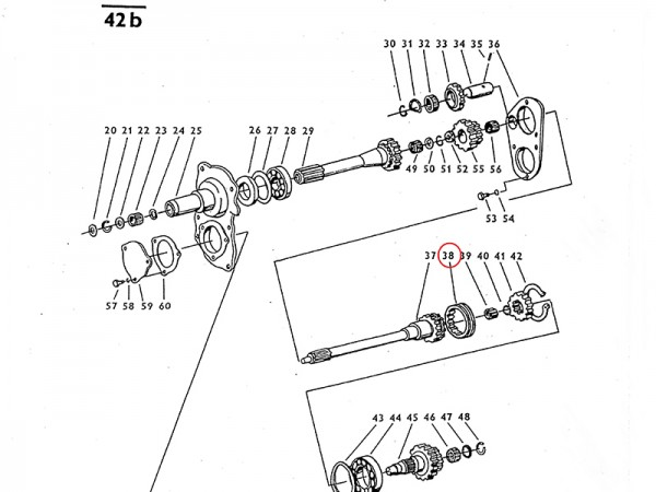 Schaltmuffe im Getriebe Zetor UR1 NEU