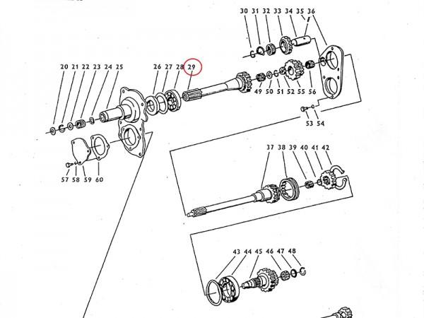 Kupplungsholwelle im Getriebe Zetor UR1 NEU
