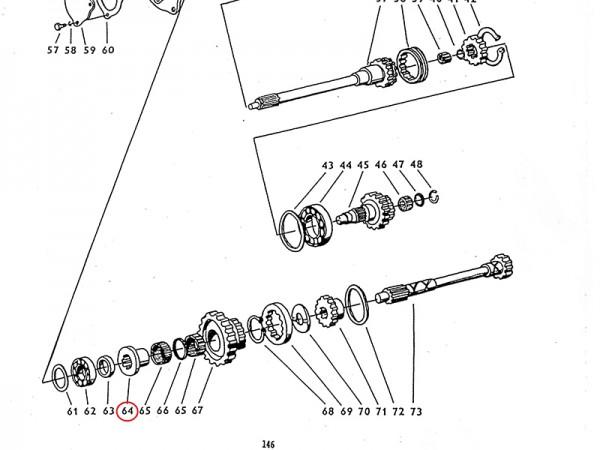 Buchse im Getriebe Zetor UR1 NEU