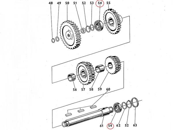 Lager 6211 A Getriebewelle Übersetzungsgetriebe Zetor UR1 NEU