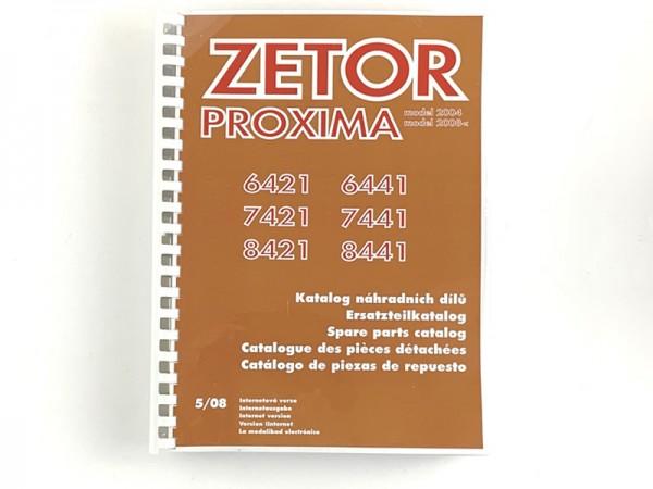 Katalog , Ersatzteilkatalog Zetor 6421 - 8441 Proxima