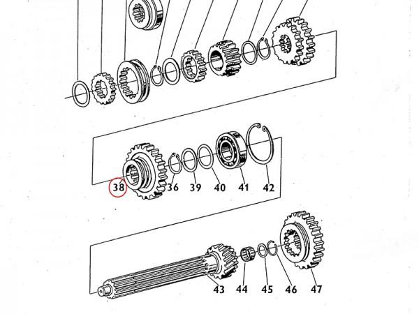 Schaltrad 1. & Rückwärtsgang Getrieberad Getriebe für Zetor UR1 NEU