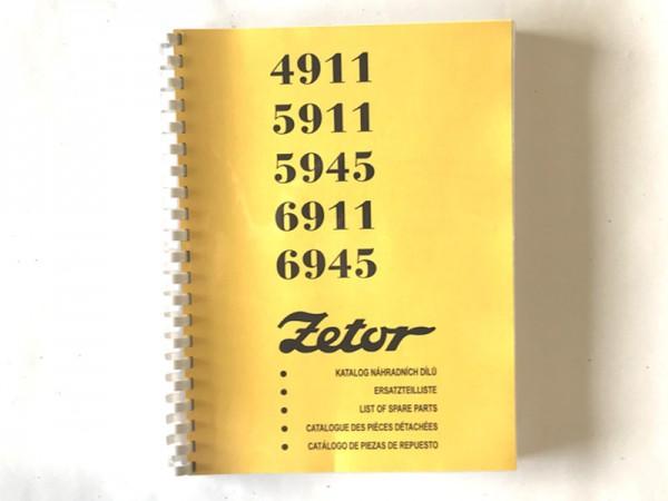 Katalog , Ersatzteilkatalog Zetor 4911-6945 NEU