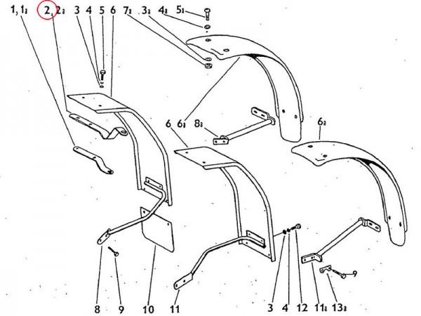 Halter Kotflügel vorn Zetor UR1
