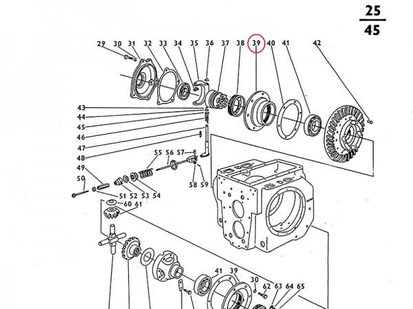Flansch für Übersetzungsgetriebe Zetor UR1 NEU
