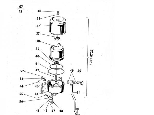 Ölfilter Zentrifugen-Ölfilter komplett Zetor UR1 NEU