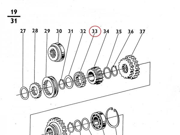 Zahnrad Nabe im Getriebe Zetor UR1 NEU