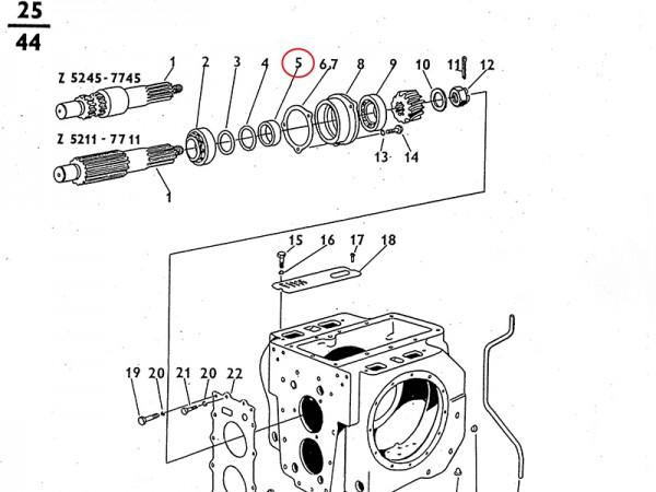 Spreizring - Getriebe Zetor UR1 NEU