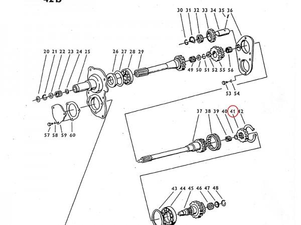 Nabe im Getriebe Zetor UR1 NEU